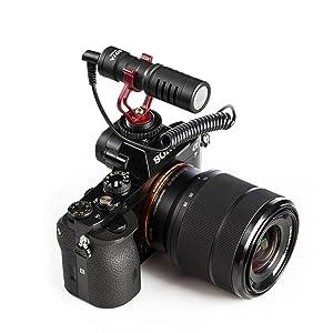 MICRÓFONO DE VIDEO SHOTGUN BY-MM1 para iPhone Canon 80D T6I T7I D5500 D3400 D5