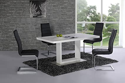 Space High Gloss Dining Table - Contemporary Design - Stylish - Interior Decor - Dine in Style - Italian Dining