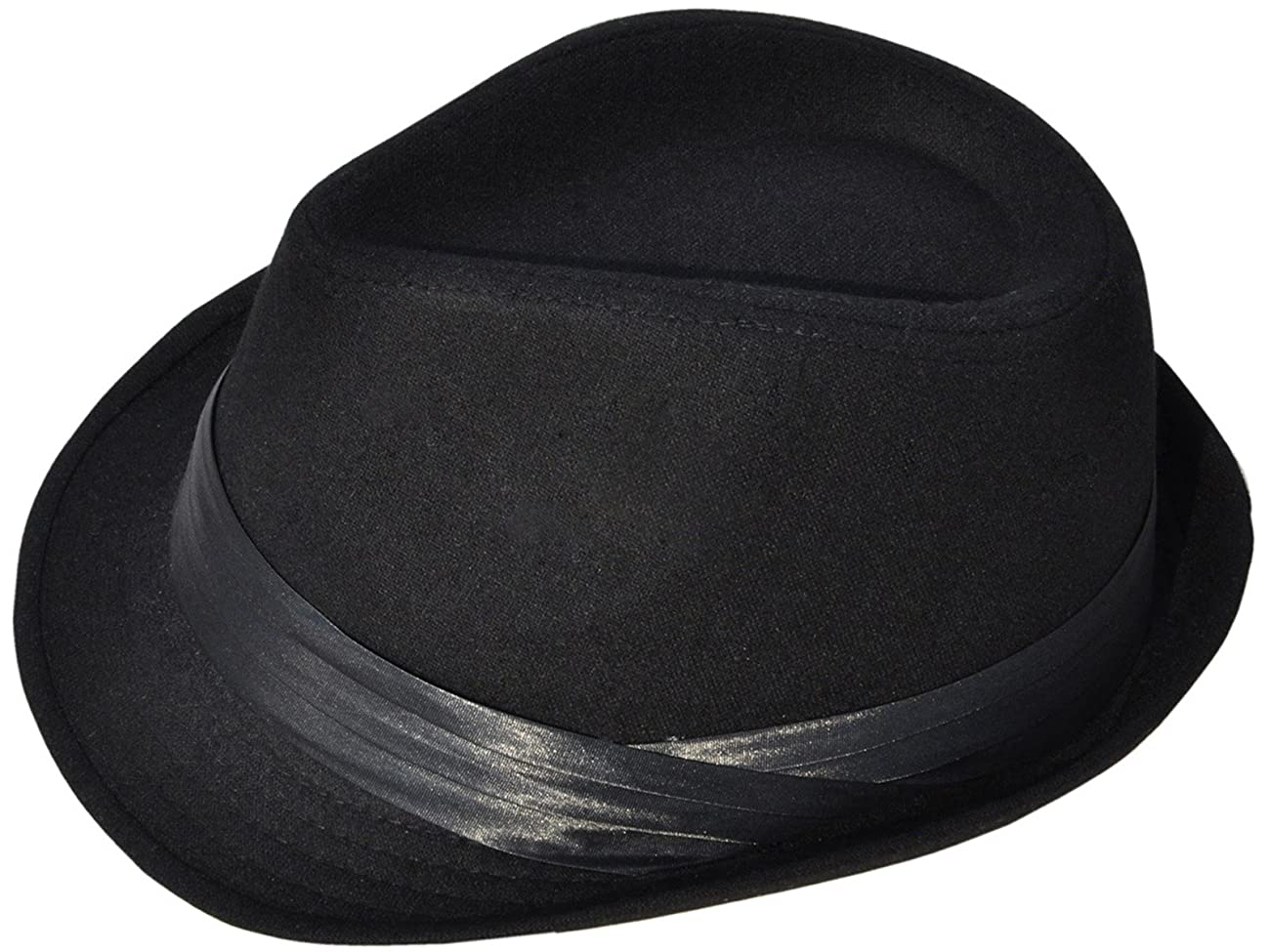 Simplicity Men Women Manhattan Structured Gangster Trilby Wool Fedora Hat 2