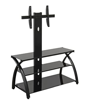Studio Futura TV Stand with Tower/ Black / Black (NEW 2014)