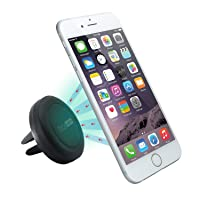 Car Mount, TechMatte® MagGrip Air Vent Magnetic Universal Car Mount Holder (Black) for the Galaxy S6/S6 Edge, LG G4, Apple iPhone 6 6 Plus, iPhone 5S 5C 5 4S, Samsung Galaxy S5 S4 S3, HTC M9
