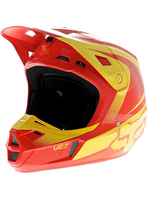 Casque Motocross Fox 2015 V2 Imperial Rouge Jaune