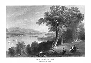 Hyde Park, New York - View of the Hudson River from the Shore