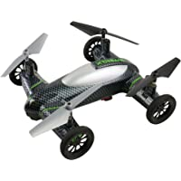 Xtreme Fly and Drive Air and Land Carbon-Fiber Quadcopter Drone w/ HD Camera