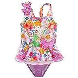 Disney Store Tinkerbell Fairy Swimsuit Size Small 5/6 (5T) Deluxe 2-Pc Swimwear