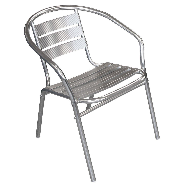 30 Stück Bistrostuhl stapelbar Aluminium Stapelstuhl Campingstuhl Gartenstuhl Küchenstuhl Gartenmöbel Silber günstig