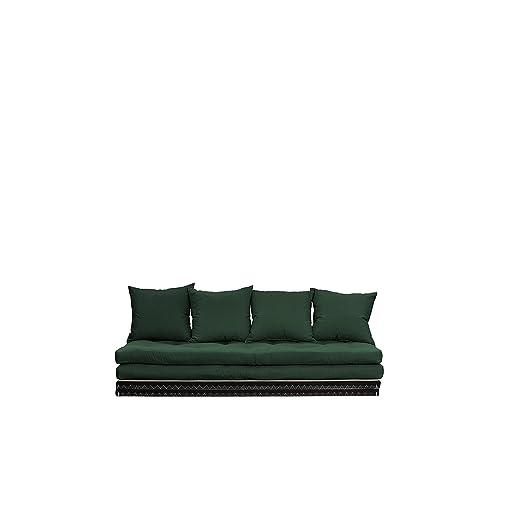 Chico Sofa futon, sur tatamis de combiner en canapé ou lit vert