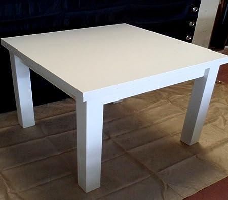 Table carré extensible blanc laqué