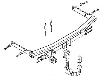 Anhängerkupplung starr Für Honda FR-V 2005-2010 E-SATZ 7-polig NEU