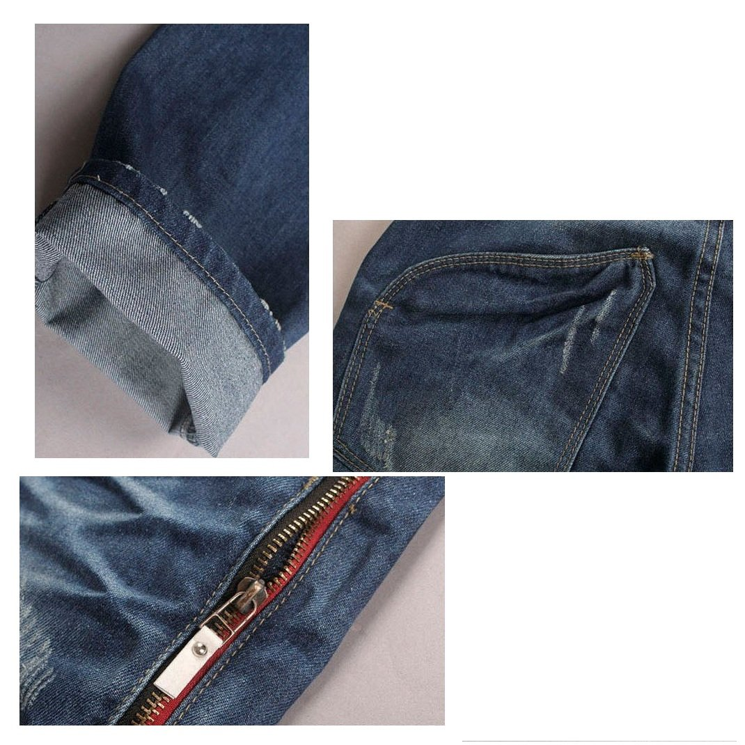 2012 New Men's Jeans,slim Fit Straight Trousers,zipper Style (SIZE : 32)