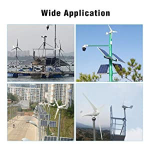 Dyna-Living Wind Turbine Generator 400W DC 12V Businesses 3 Blade with Controller for Marine RV Homes Industrial Energy (Color: 400 W)