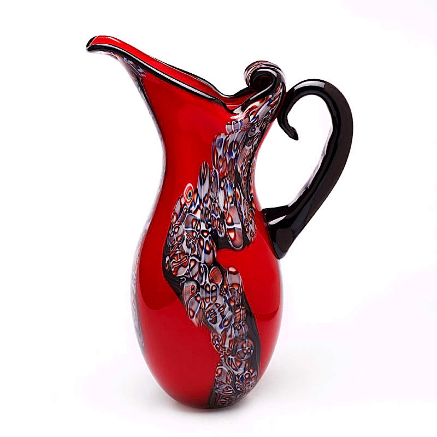 Red Art Glass Pitcher Vase image