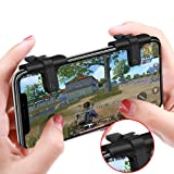 Leegoal Mobile Game Controller for PUBG, [NEW VERSION] Sensitive Shoot Fire and Aim Buttons for PUBG/Knives Out/Rules of Survival, Survival Game Controller for 4.5-6.5inch Android IOS Phone, 1 Pair