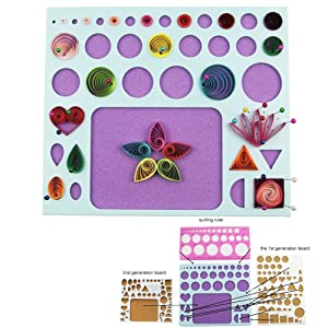 YURROAD Paper Quilling Kit with 1740 Strips and Paper Quilling Tools and Storage Box (Tamaño: Quilling Kit)