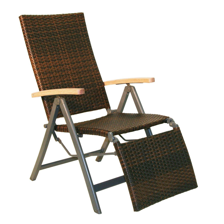Relaxsessel Gartenstuhl Klappstuhl GENUA 72x59x107 cm anthrazit Stuhl Sessel günstig
