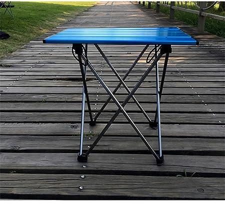 MONEYY Aleación de aluminio mesas plegables outdoor camp grill tablas en las actas de mesas de picnic portátiles largo 56 x ancho 40 x Alto 47cm,c