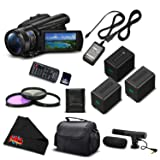 Sony FDR-AX700 4K HDR Camcorder w/3.5 Inch LCD (FDR-AX700/B) Advanced Bundle- International Version (No Warranty) (Tamaño: Advanced)