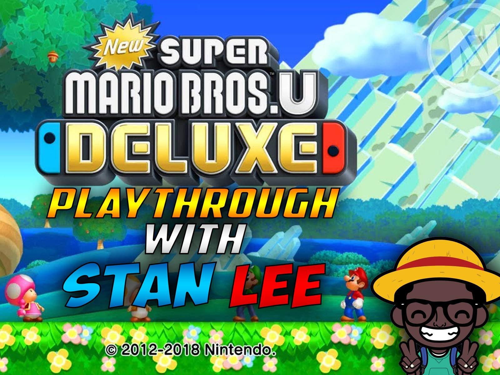 New Super Mario Bros. U Deluxe Playthrough With Stan Lee - Season 1