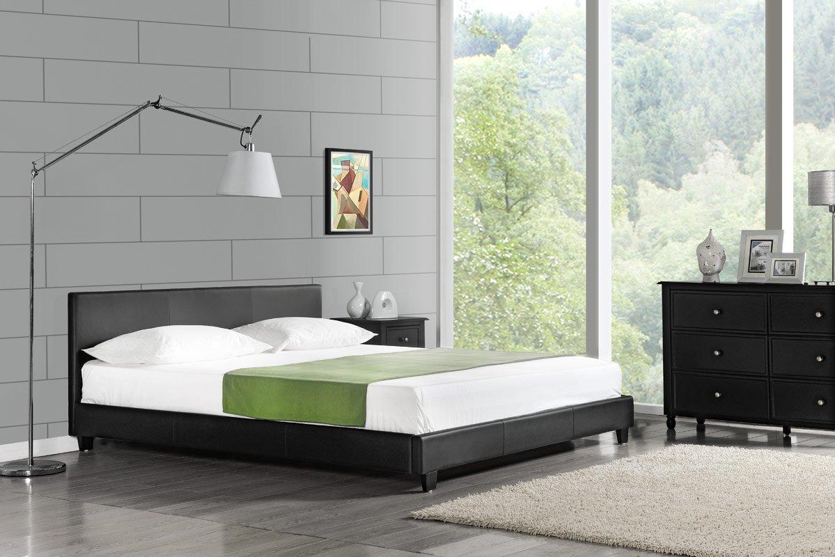 Modernes Lederbett Polsterbett Bett 140x200