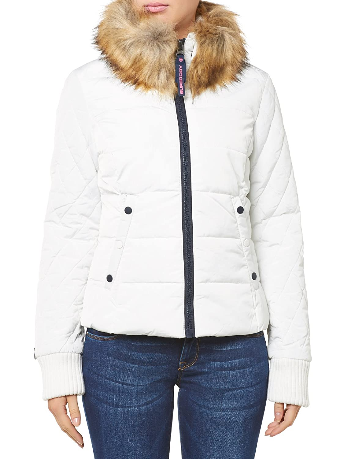 Superdry Jacke Women ULTRA FREEZE BIKER White