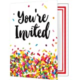 Creative Converting Foldover Invitations, Sprinkles (48-Count)