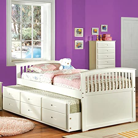Bella Youth Bed Mission platform bed Trundle and three drawers