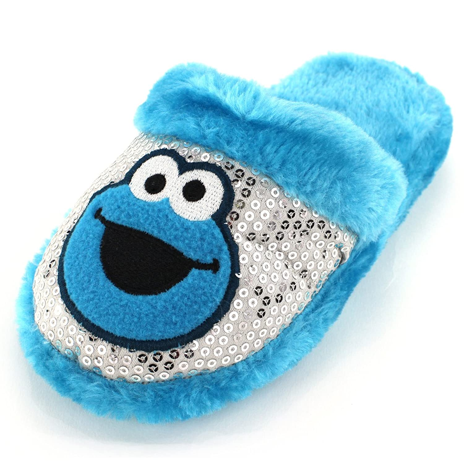 все цены на Cookie Monster Girls Blue Scuff Slippers онлайн