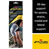 Futuro Active Knit Knee Stabilizer, Moderate Stabilizing Support, Large, Gray (Color: gray, Tamaño: Large)