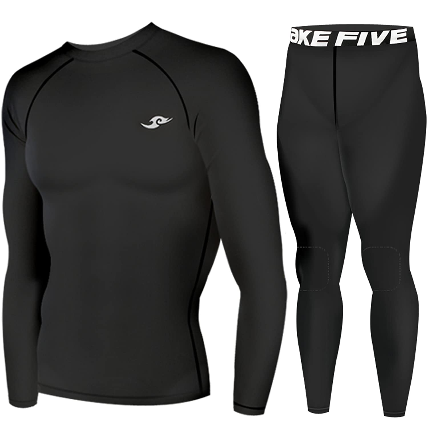 Winter Compression Base Layer Warm Round Neck Top & Knee Pad Pants Black SET effective image compression using evolved wavelets