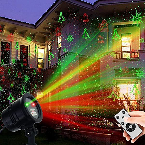 Christmas Laser Lights Outdoors Projector Pattern Lights LED Star Show Waterproof for Xmas Decorative House Yard Garden Wall Decor Home Holiday Party (Color: Laser Lights)