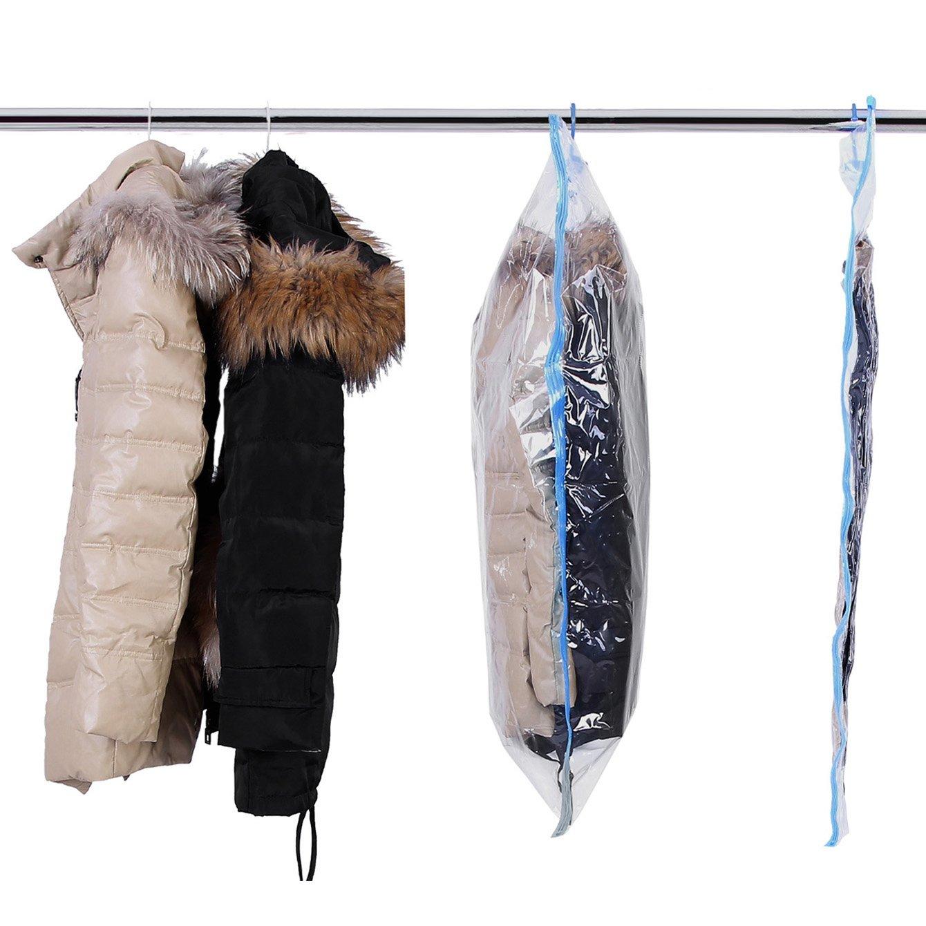 Songmics Bolsas de almacenaje de ropa al vacío (6 unidades), con gancho, Funda protectora de ropa RVM06T   Comentarios y más información
