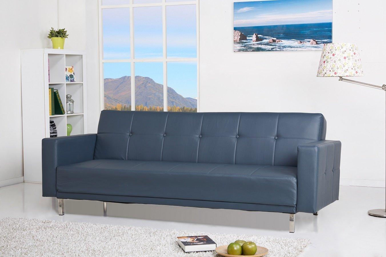 Luis Schlafcouch Kunstleder anthrazith Schlaffunktion Sofa online kaufen