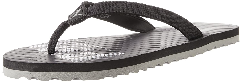 Unisex Miami 6 DP Black and Gray Violet Rubber Flip Flops Thong Sandals - 10 UK