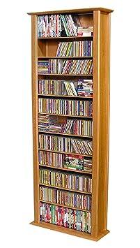 Venture Horizon Single Media Storage Tower Bookcase