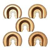 XXGO 5 Pcs Semicircle Carbide Oscillating Multi Tool Blades Universal Compatible with Bosch Chicago Craftsman Dewalt Dremel Fein Harbor Freight Makita Milwaukee Porter Cable Ridgid Ryobi Rockwell More (Color: Gold)