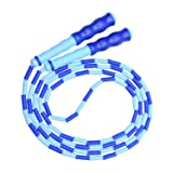 Jump Rope, Beads Segment Jump Rope, Sports-and-Fitness Rope for Kids, Men and Women, Adjustable Tangle-Free Jump Rope for Workout, Keeping Fit, Weight Loss and Training, 110 inch (Blue) (Color: Blue, Tamaño: 110inch)