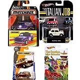 Mini Car Collection Italian Job Hot Wheels White Retro Entertainment Real Riders + Best of Matchbox '65 Austin Van / MBX Service Mini Van & Beatles Exclusive Morris Mini British car