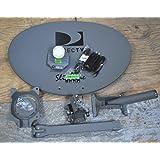 DIRECTV 3LNB SLIMLINE DISH KAKU SWM3 HD SHORT ROOF ONLY STUB FOOT 4WAY 21V POWER