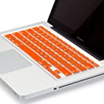 """Heartly Premium Soft Silicone Keyboard Skin Crystal Guard Protector Cover For MacBook Air 11"""" inch Vintage Orange"""
