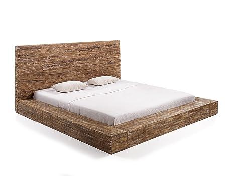 massivum Bett Stripe 180x200cm Palisander braun gewachst