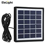 EleLight Solar Panel, 1.8W Portable Multipurpose Solar Panelwith 3M Outlet Cable USB Solar Charger for Phone,tablet and Devices (Black)