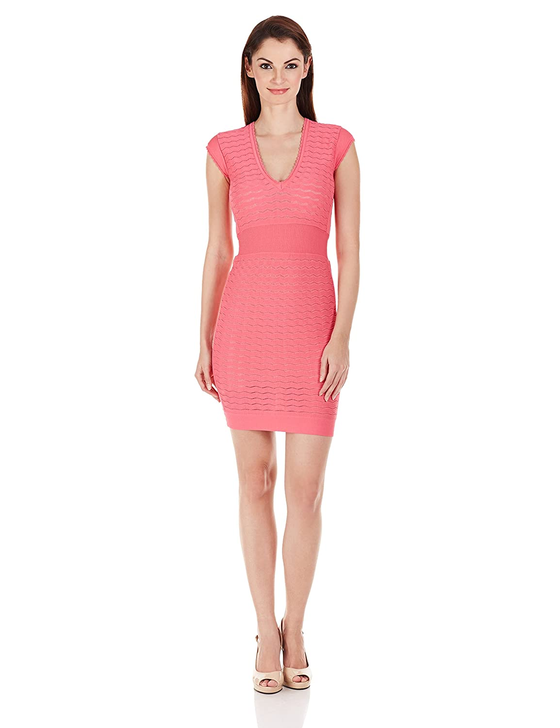 French Connection Women's Miami Dani Cap-Sleeve V-Neck Dress платье french connection french connection fr003ewhuq37