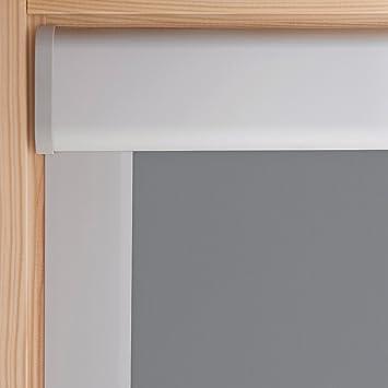your extra price rouleau de store occultant pour lucarnes velux gris clair 61x74cm m04. Black Bedroom Furniture Sets. Home Design Ideas