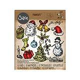 Sizzix SIZ662437 Tattered Christmas Tholtz Framelits Die