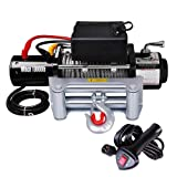 Yescom 10000 lb 12V 5.5HP Electric Recovery Winch for Truck Trailer SUV Jeep