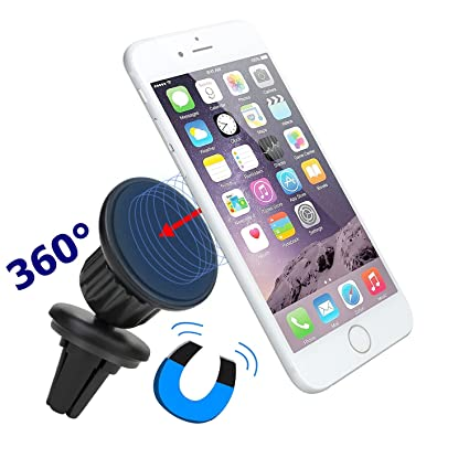 iPhone 6 Car Mount, iVoler Air Vent Magnetic Universal Cell Phone Car Holder for iPhone 6/6S Plus, Galaxy S6/S6 Edge, Note 5, Nexus 6P 5X 360° Flexible Swivel Ball Head 100% Safe with Powerful Grip
