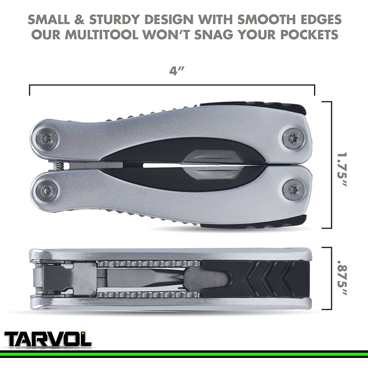 14 in 1 MultiTool (HARDENED STEEL) Multi Purpose Pliers, Knife, Ruler, Cable Cutter, Needle Nose Pliers, Saw, File, Screwdrivers, and More! Carry Case Included!