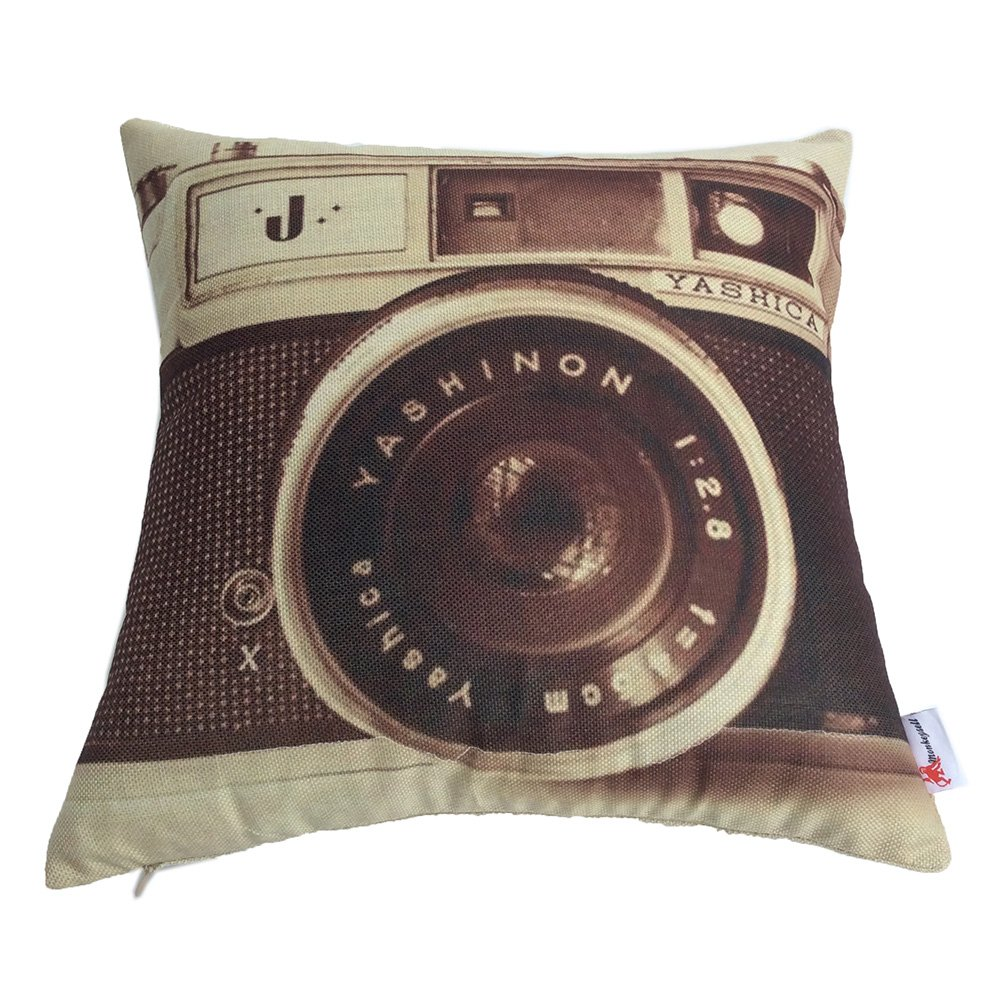 Monkeysell 3D printing various types of Vintage Camera Home Throw Pillow Case Personalized Cushion Sofa Home Decor Design Throw Pillow Case Cushion Covers Square 18 Inch (1) 1