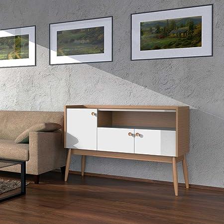 Wohnzimmer Sideboard in Weiß Eiche 115 cm Pharao24