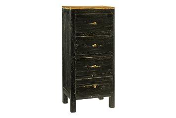 Antique Revival Lucia Rustic Dresser, black